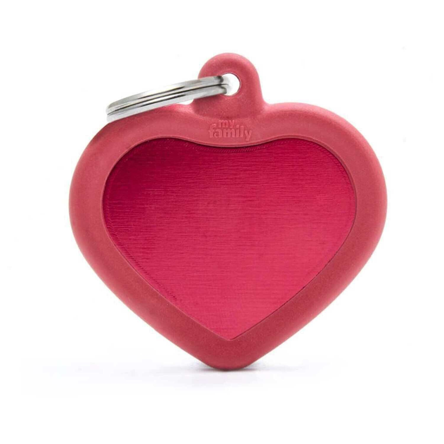 My Family Aluminium Red Heart with Rubber