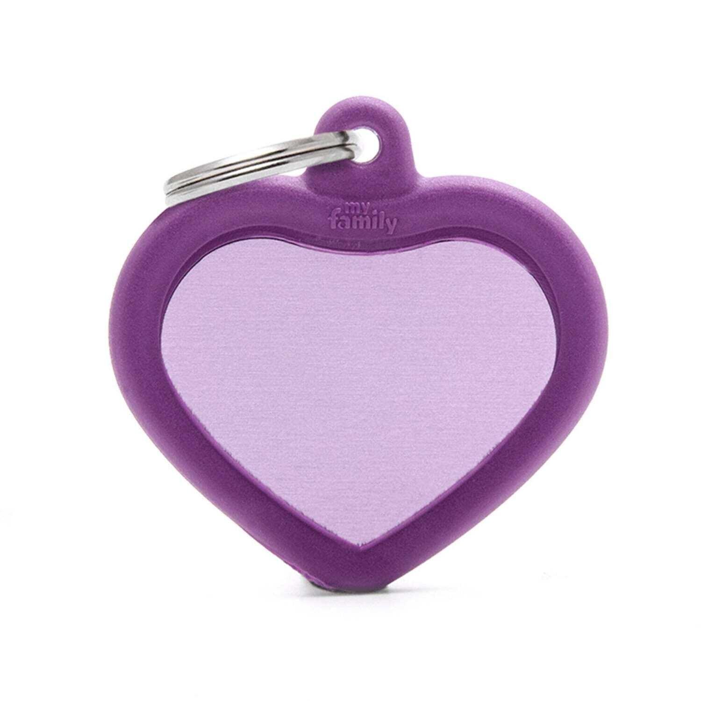 My Family Aluminium Purple Heart with Rubber