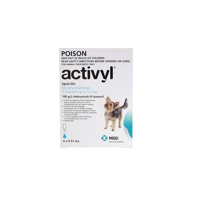 Activyl Flea Treatments.  6 pipettes