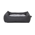 La Doggie Vita - Water Resistant Oxford Bolster Charcoal Bed