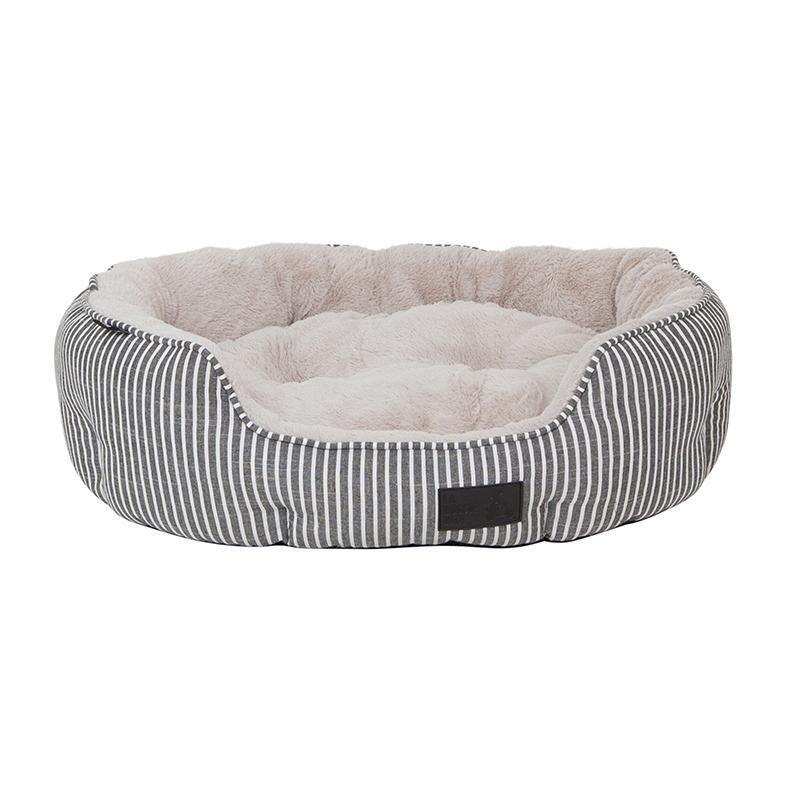 La Doggie Vita - Hampton Stripe Shell Bed
