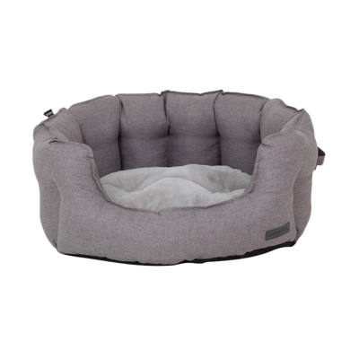 La Doggie Vita - Water Resistant Oxford High Side Grey Shell Bed