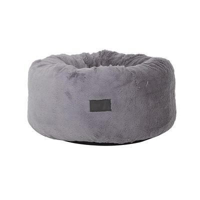 La Doggie Vita - Grey Plush Donut Dog Bed