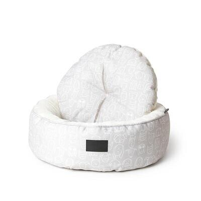 La Doggie Vita - Dog Central Taupe Removable Cushion Round Bed.