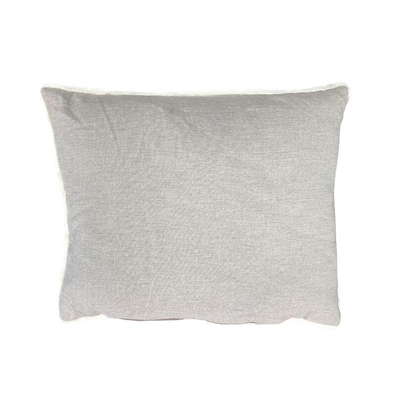 La Doggie Vita - Linen Look, Luxe Trim, Stone Grey SPARE CUSHIONS for High Sided Bed.