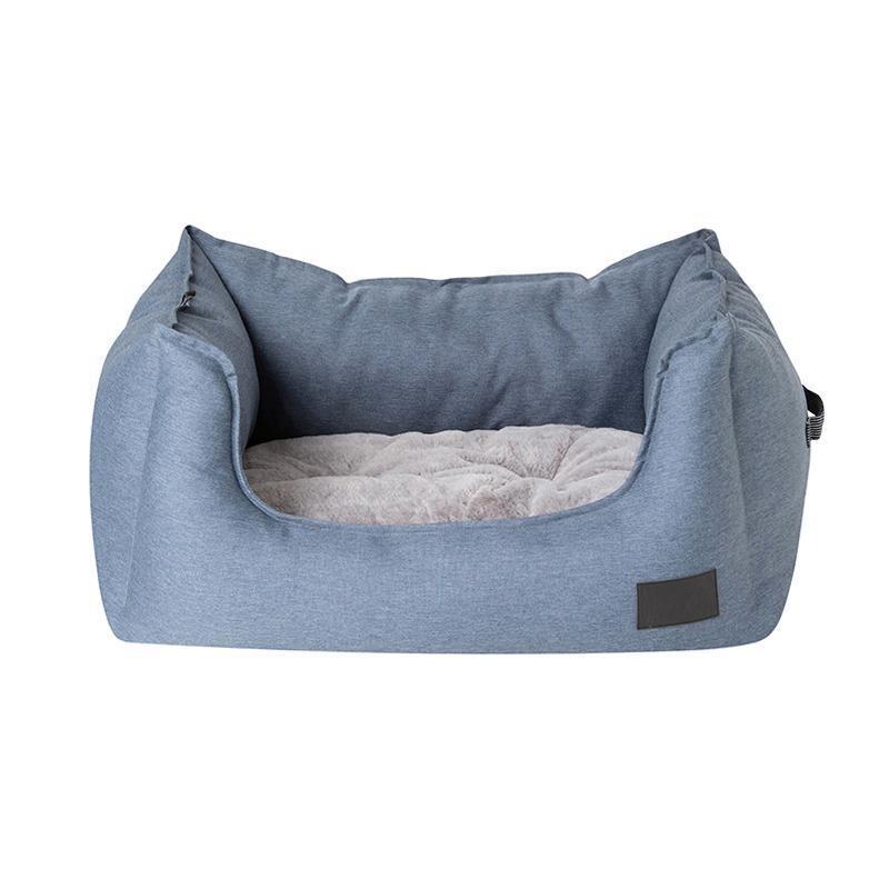 La Doggie Vita - Water Resistant Slate High Side square Bed