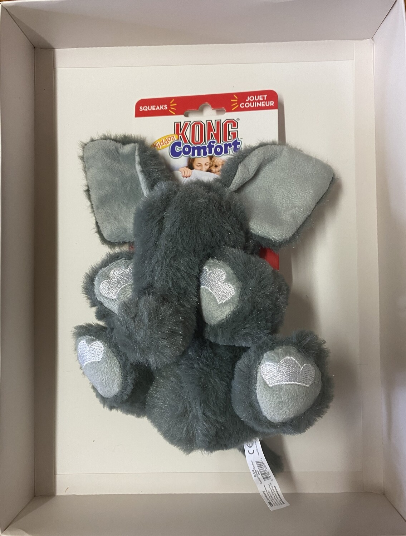 KONG Comfort Kiddos Elephant Plush Squeak - Small