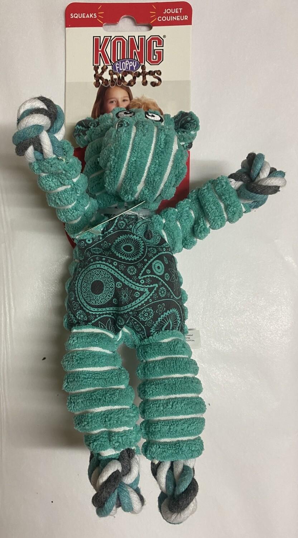 KONG Floppy Knots Hippo.  Small/Medium