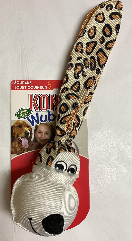 Kong Floppy Ear Wubba Leopard - Small