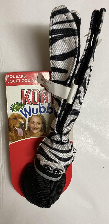 Kong Floppy Ear Wubba Zebra - Large