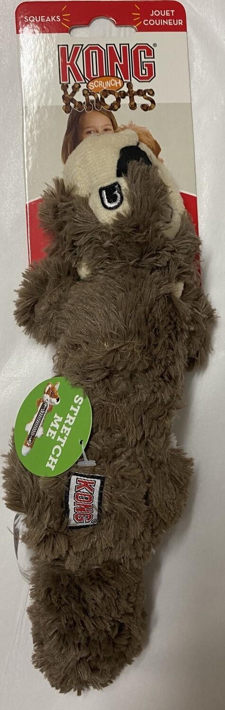 KONG Scrunch Knots Squirrel Dog Toy - Medium/Large