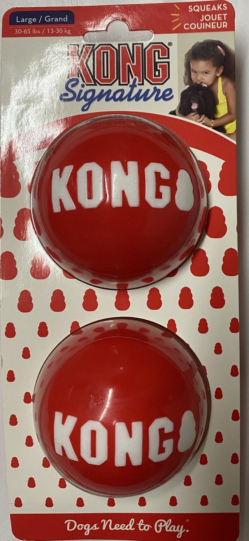 Kong Signature Balls - Large 2 pk