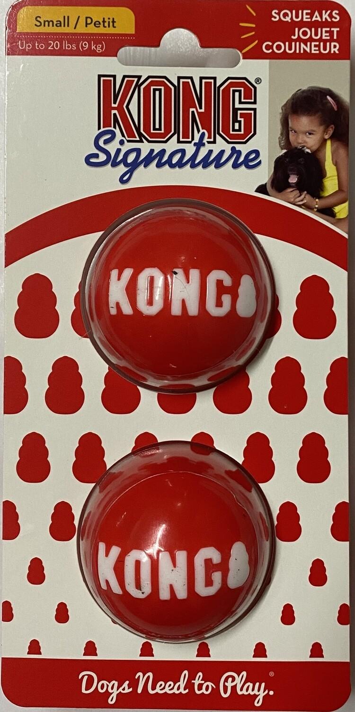 Kong Signature Balls - Small 2 pk