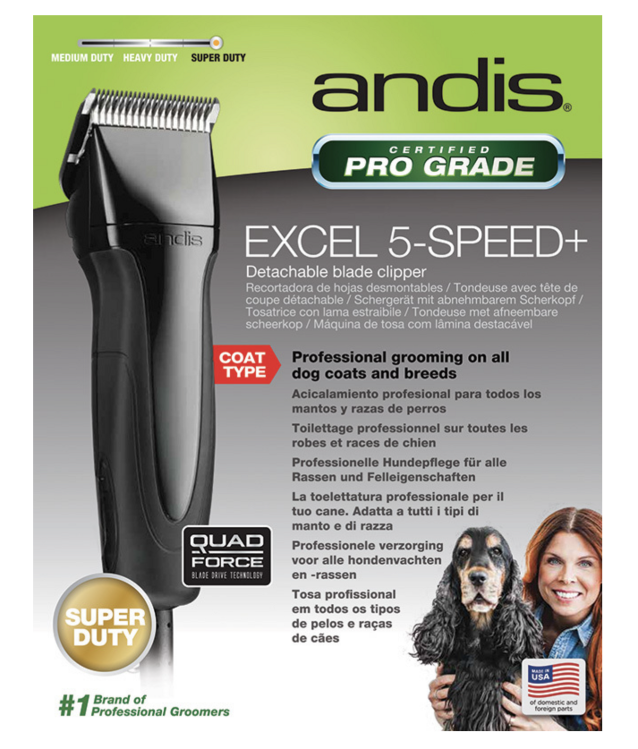 Andis Excel 5-Speed Certified  ProGrade Detachable blade Clipper