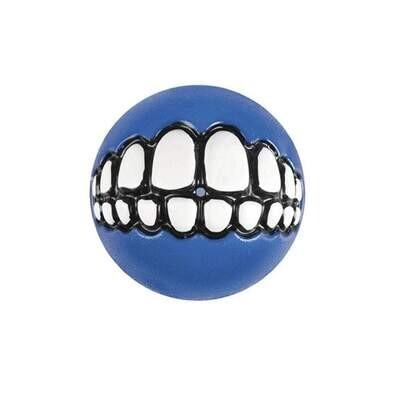Rogz Grinz Ball Blue Dog Toy