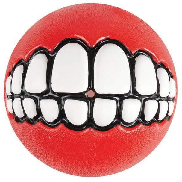 Rogz Grinz Ball Red Dog Toy