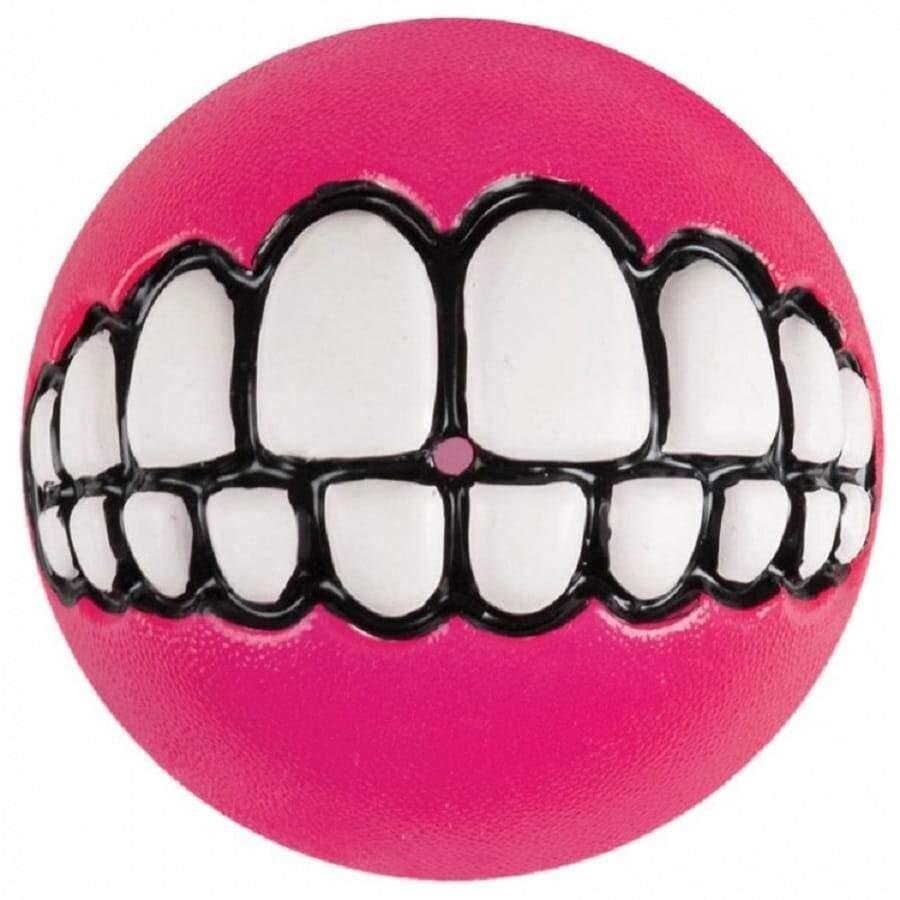 Rogz Grinz Ball Pink Dog Toy