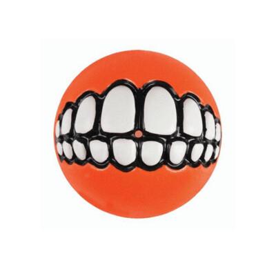 Rogz Grinz Ball Orange Dog Toy