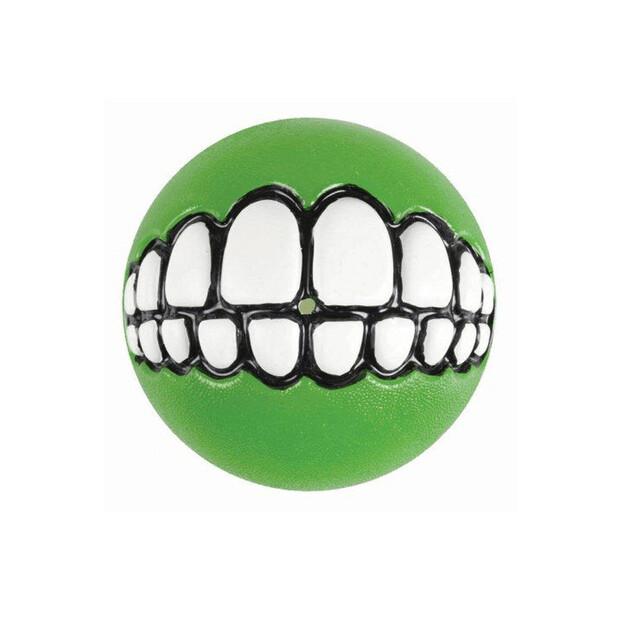 Rogz Grinz Ball Lime Dog Toy