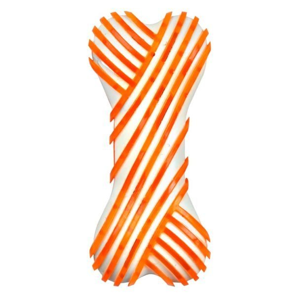 Nylon TPR Bone 6″ – Orange