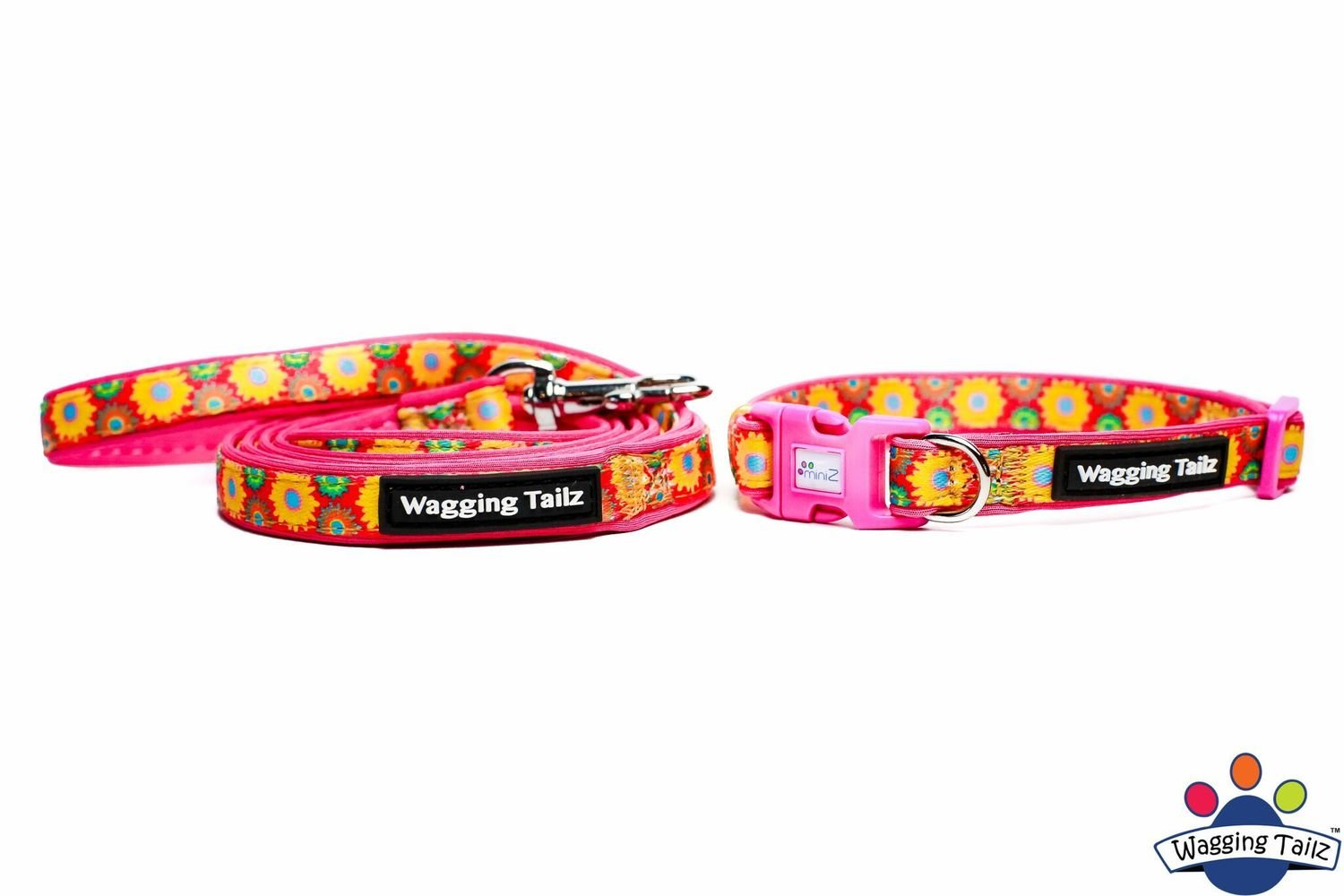 Wild Flower Hot Pink Collar and Lead