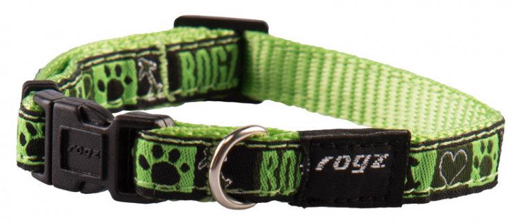 Rogz Fancy Dress Dog Collar, Lime Juice Design