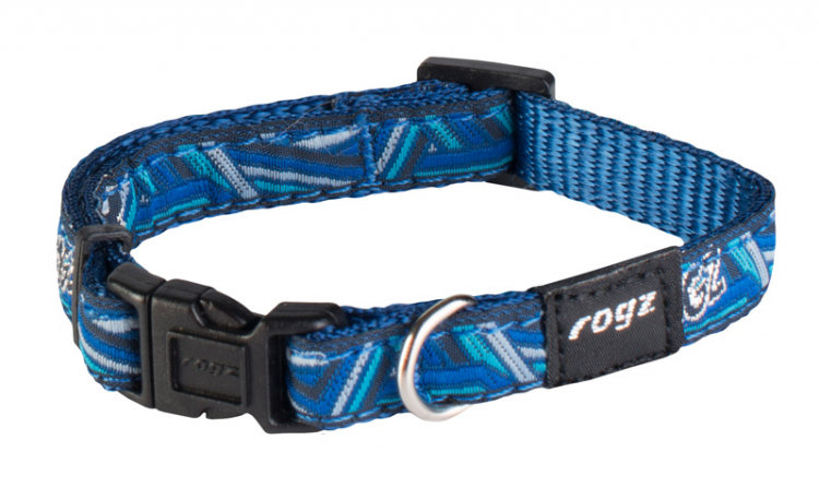 Rogz Fancy Dress Dog Collar, Navy Zen Design