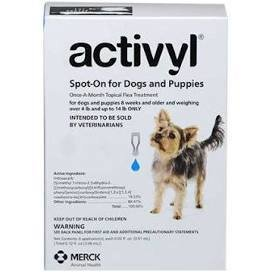 Activyl Flea Treatments.  6 pipettes