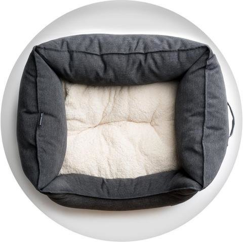 La Doggie Vita - Charcoal High Side Square Pet Bed