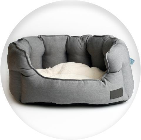 La Doggie Vita - Grey High Side Shell Bed