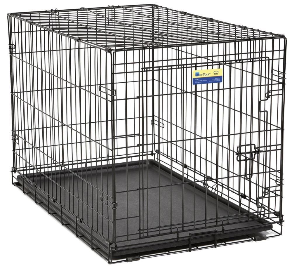 Contour Wire Crate-Double Door.  36' inch