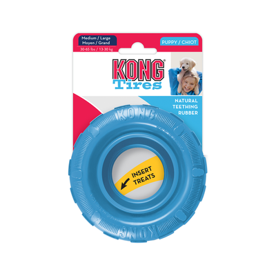 KONG Puppy Tire_Medium/Large. Blue