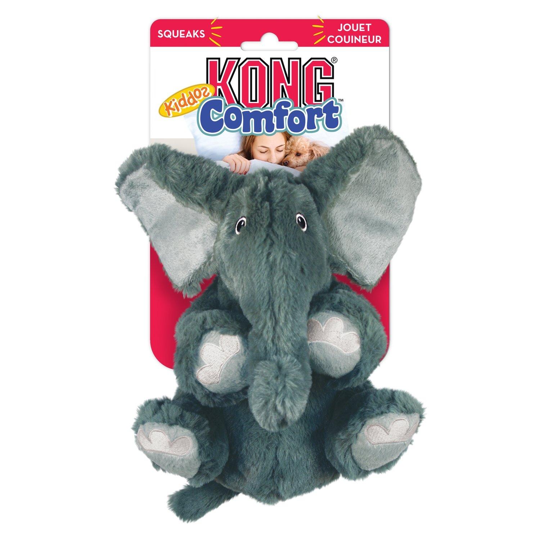 KONG Comfort Kiddos Elephant Plush Squeak Large Toy For Dog