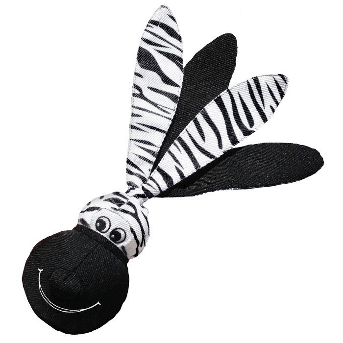 Kong Floppy Ear Wubba Zebra - Small