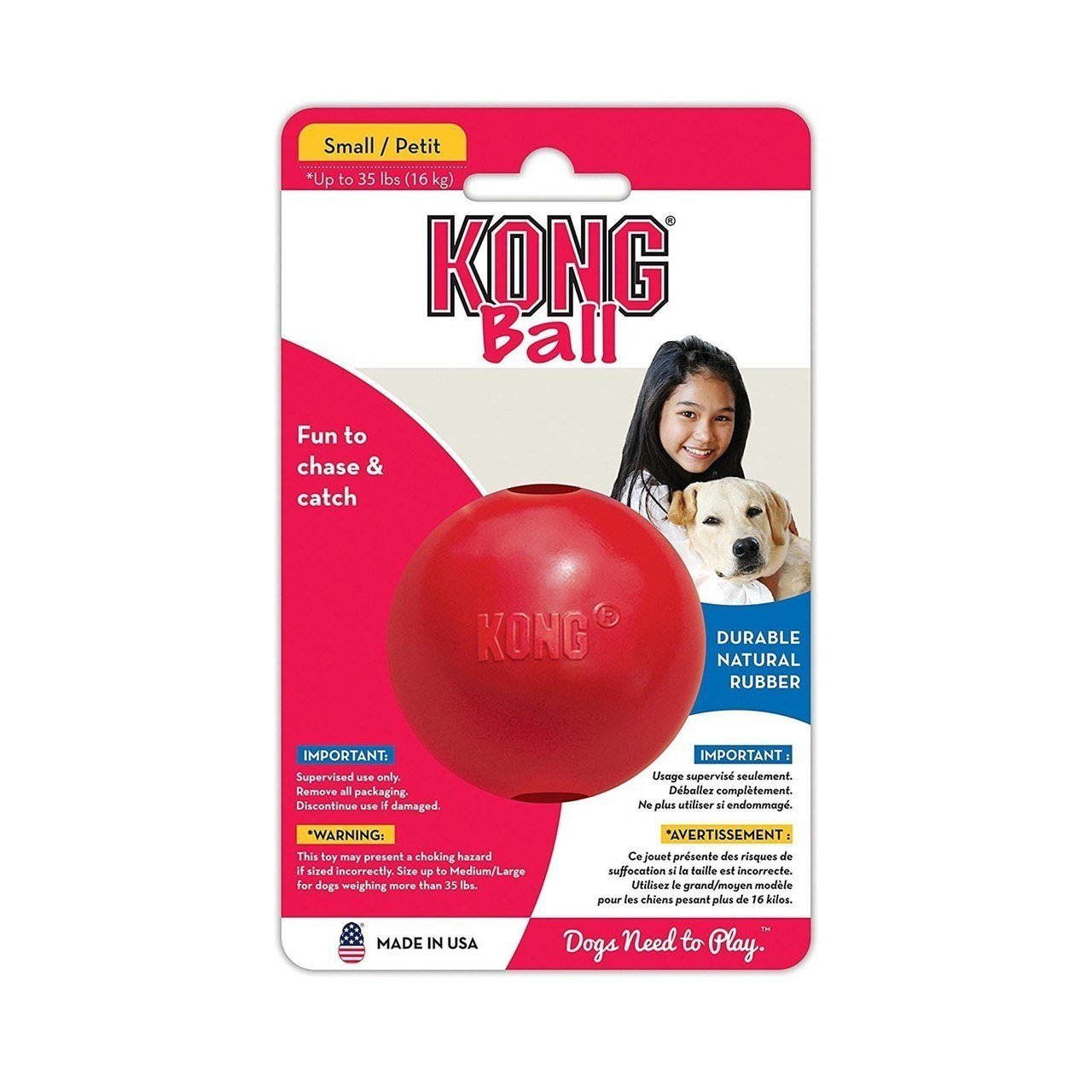 KONG Dog Ball_Red. Small