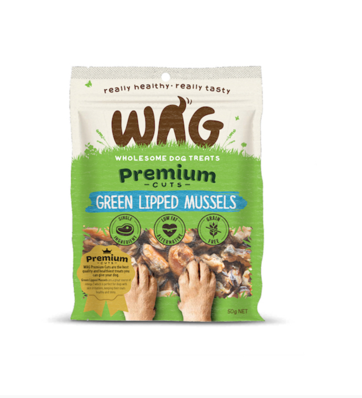 Green Lipped Mussels (50g Bag)