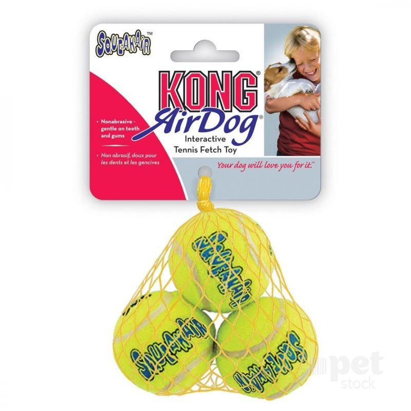 KONG Dog Air Dog Squeaker Balls_ Small 3 pck