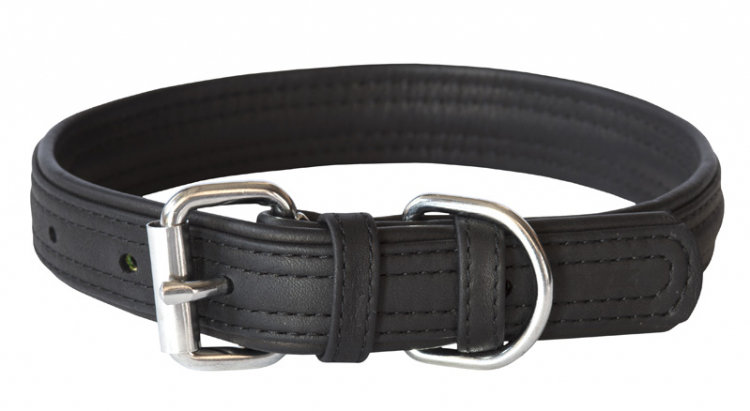 Rogz Leather - Buckle Collar Black