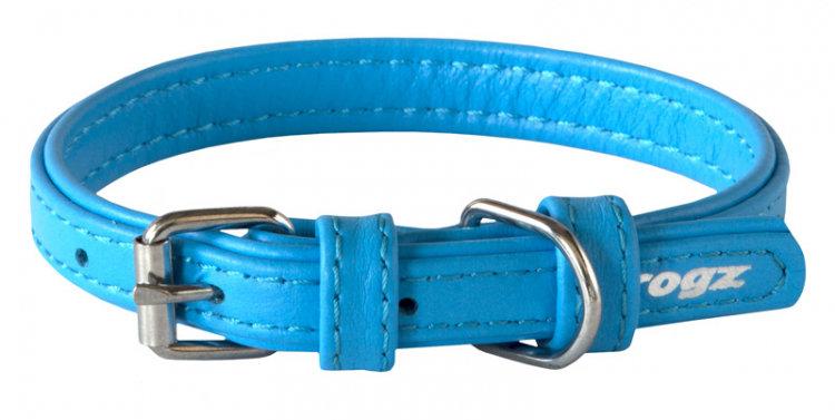 Rogz Leather - Buckle Collar Turqoise