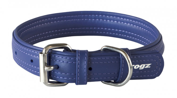 Rogz Leather - Buckle Collar Purple