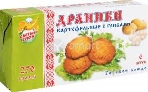 Драники с картофелем и грибами  фас. 0,270 Покоторг  12шт.