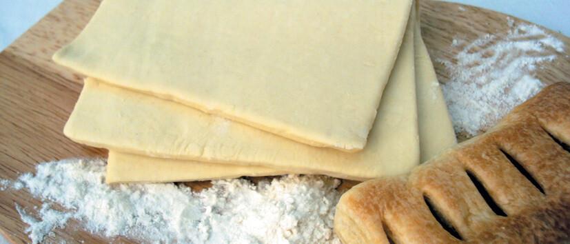 Тесто слоеное бездрожжевое пласты 0,400кг Покоторг  20шт.