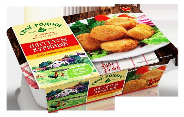 Наггетсы куриные Своё родное 400 гр 6шт.