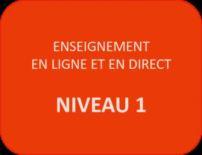 Enseignement N1-7 - Mardi 13 oct + 20 oct + 27 oct (18h à 20h)