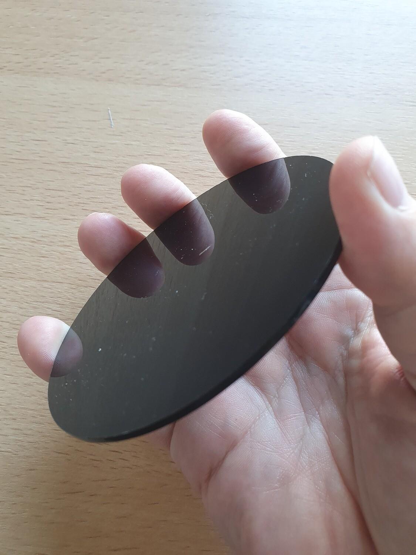 Disque noir 10 cm