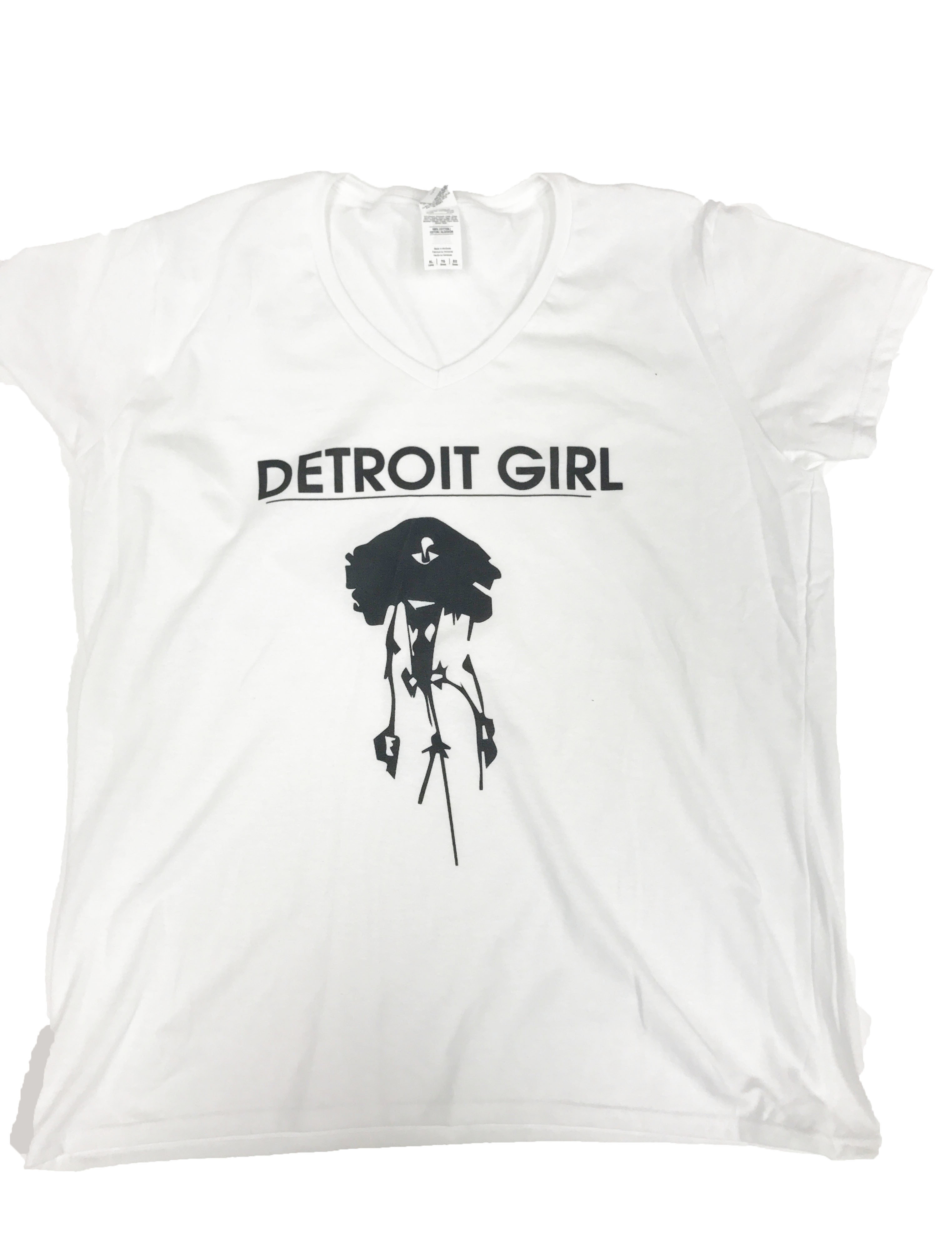 Detroit Girl Tee (White) 00181