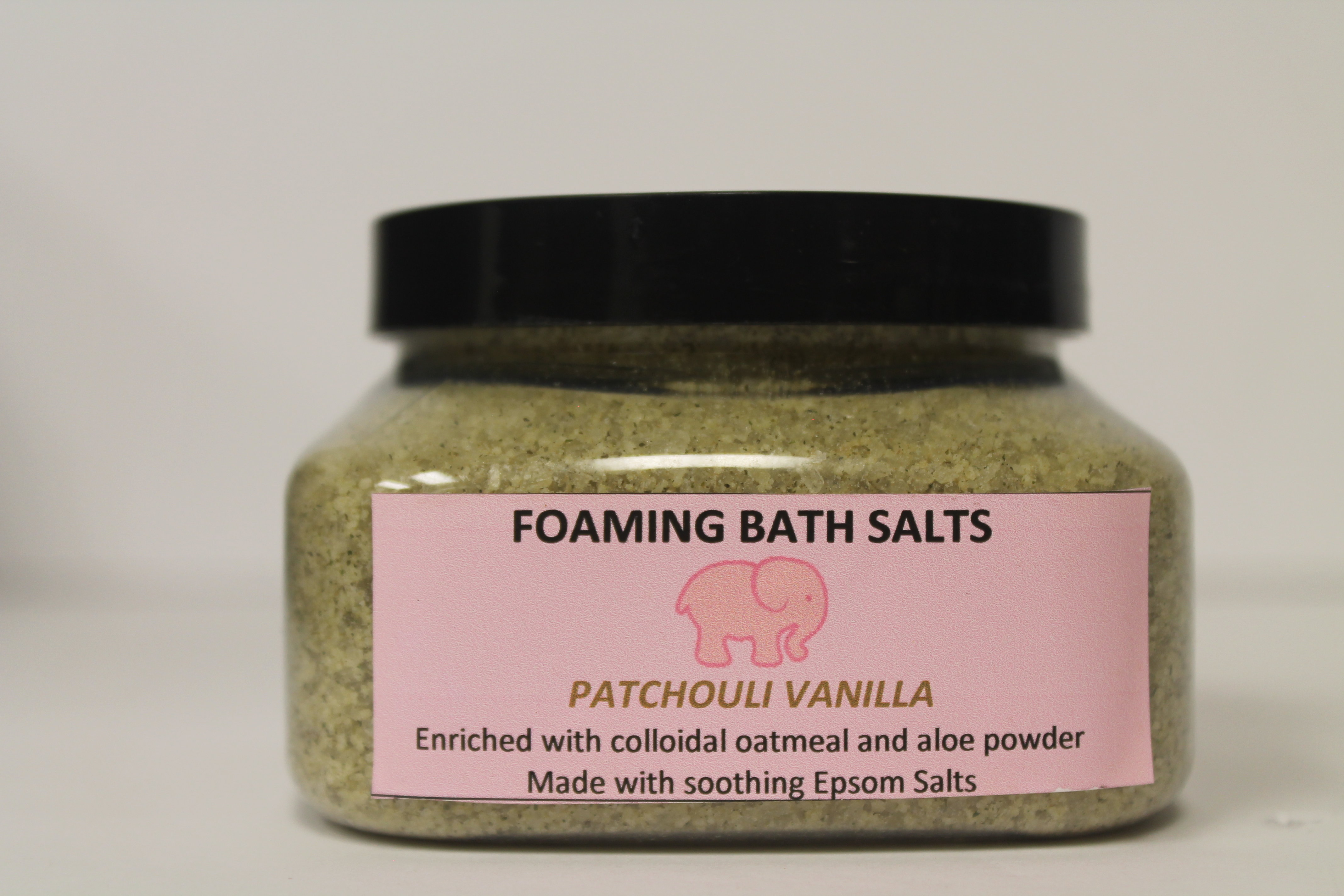 "Pink Elephant Foaming Bath Salts ""Patchouli Vanilla"" 00233"