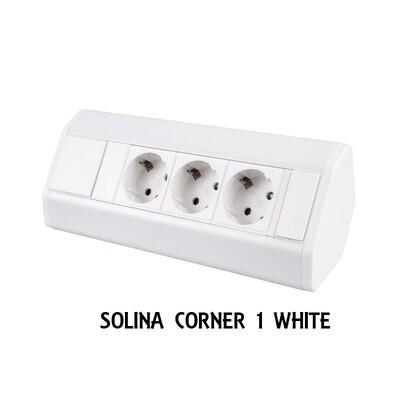 SOLINA CORNER 1 WHITE - kulmapistorasia