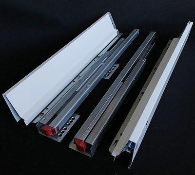 Laatikko hidastimella syvyys 55 cm, valkoinen