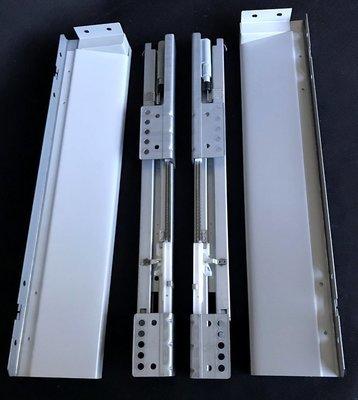 Laatikko hidastimella syvyys 45 cm, harmaa